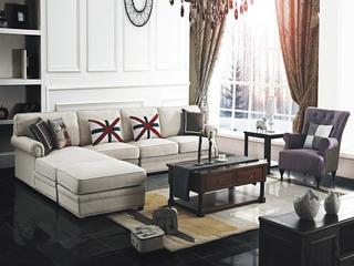 U客利家 简美UL818转角沙发 进口棉麻布布艺1+3+贵沙发