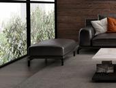 诺美帝斯 意式极简T08沙发 头层真皮 深棕色皮艺脚踏
