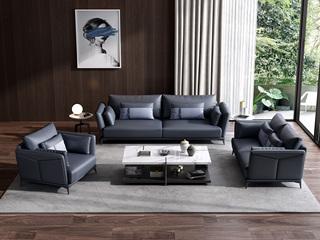 诺美帝斯 意式极简 纳帕皮 三人沙发