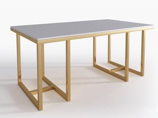 慕梵希 轻奢 C04钢化玻璃1.5米餐桌