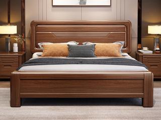 纯典 中式风格 楠木 乌金色 床头柜