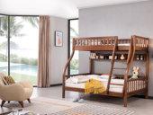 源木时光 北欧风格 坚固胡桃木框架 经久耐用 清晰木纹 环保健康漆 子母床