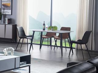 斐亚家居 极简风格 岩板 碳素钢脚 餐桌