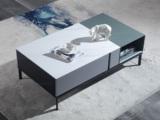 斐亚家居 极简风格 岩板面 细腻顺滑 碳素钢脚 1.3m茶几