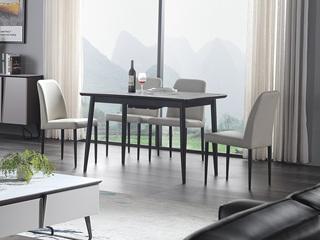 斐亚家居 极简风格 超白钢化面玻璃 拉伸功能款 餐桌