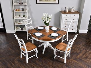丹饰林 北美进口红橡 嘉宝莉环保漆 简美风格 卡梅尔圆餐桌