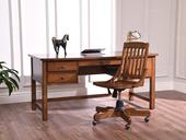 丹饰林 北美进口红橡 嘉宝莉环保漆 简美风格 戴恩书桌