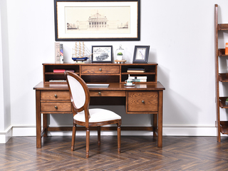 丹饰林 北美进口红橡 嘉宝莉环保漆 简美风格 美式桌面小书架