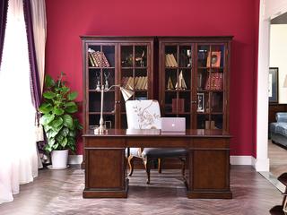 丹饰林 北美进口黄杨 嘉宝莉环保漆 简美风格  美式书桌