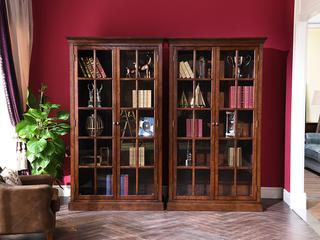 丹饰林 北美进口红橡 嘉宝莉环保漆 简美风格  温斯洛书柜