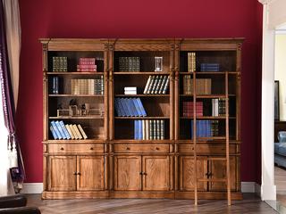 丹饰林 北美进口红橡 嘉宝莉环保漆 简美风格 美式书柜