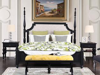 丹饰林 北美进口橡胶木+俄罗斯进口黄杨木 美式风格长床尾凳 嘉宝莉净味油漆