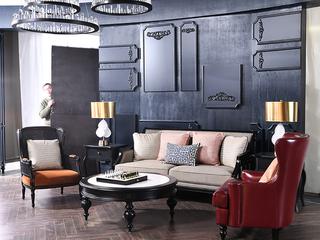丹饰林 结构坚固 优质泰国进口橡胶木框架 时尚新棉麻透气 美式1+2+3沙发组合