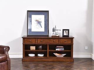 丹饰林 北美进口黄杨 嘉宝莉环保漆 玄关桌 带抽屉 美式风格 边桌