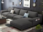 【纾康】X8001 (1位+2位+左贵妃) 北欧风格 麻布面料 多种配色 百搭沙发套装