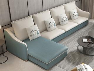 【纾康】X1910B (1+2+左/右贵妃) 现代风格 科技布面料 多种组合、配色沙发套装(不分左右)