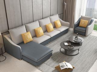 【纾康】X1910A (1+2+左/右贵妃)现代风格 科技布面料 多种组合、配色沙发套装(不分左右)