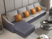 【纾康】X1910A (1+2+右脚踏)现代风格 科技布面料 多种组合、配色沙发套装