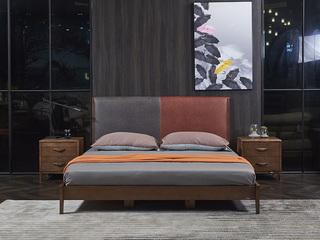非色家具 优质北美进口白蜡木 实木自然纹理 舒适软靠1.8米床
