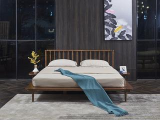 非色家具 北美进口白蜡木系列床