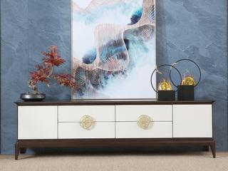 博洛妮亚 新中式电视柜实木客厅电视柜