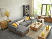 【纳德威】北欧宜家布艺沙发组合 小户型型客厅转角贵妃 3+右贵妃