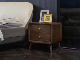 非色家具 北美进口白蜡木系列床头柜