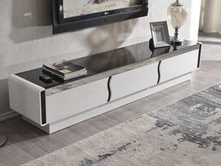 【纳德威】优质钢化玻璃面 现代时尚黑白电视柜