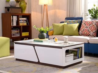 纳德威 优质钢化玻璃现代茶几客厅家具白色茶几 外架包装