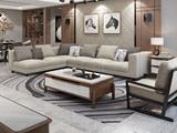 【纳德威】实木框架 现代简约大气客厅布艺组合沙发 透气涤棉布料 全拆洗1+2+右贵妃