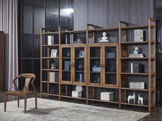非色家具 北美进口白蜡木系列书柜(双门)