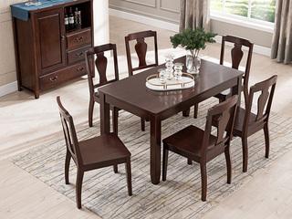 精美家 进口美楸 经典仿古做旧工艺 零甲醛大宝漆 美式风格1.4米长餐桌