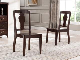 精美家 进口美国楸木 实木餐椅 美式乡村风格 无扶手餐椅