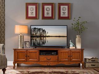 精美家 浅樱桃色桃花芯木 美式风格电视柜
