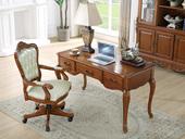 精美家 进口桃花芯木 美式风格 书桌