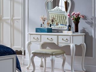 精美家 进口桃花芯木 美式风格  穿衣镜