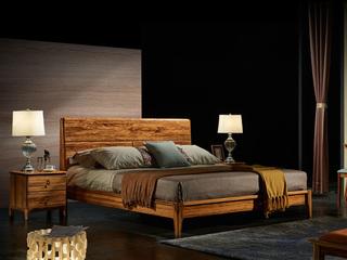 金华庭 简乌金系列 优质乌金木 1.5米大床