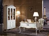 西廷香榭 橡胶木(腿,框架)米白书台