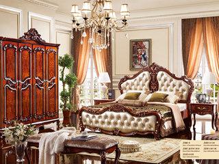 芭黎玫瑰 深法系列 橡胶木框架+松木内板玫瑰金床尾凳
