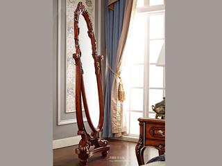 芭黎玫瑰 深法系列 橡胶木+镜子玫瑰金穿衣镜