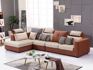 合盛佐罗 可拆洗设计 亲肤棉麻布料 进口松木框架 现代简约风格转角沙发组合(1+2+右贵妃)