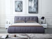 合盛佐罗 柔软舒适靠背设计 可拆洗 亲肤棉麻布面料 现代简约风格1.5米床