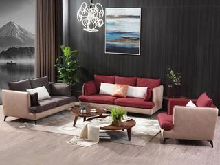 合盛佐罗 高档棉麻科技布 进口松木框架 现代风格沙发组合(1+2+3)