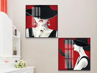 人物装饰画现代简约客厅挂画美女现代简约北欧风格抽象艺术轻奢壁画玄关画