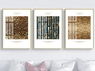 现代简约风格客厅装饰画 沙发背景墙装饰挂画金色岁月装饰画