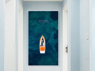 北欧简约玄关小清新卧室挂画沙发背景墙装饰画