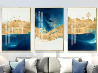 北欧抽象挂画现代客厅沙发背景墙装饰画玄关招财装饰画