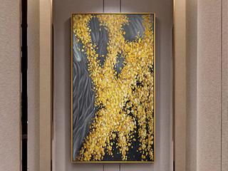 新中式玄关装饰画北欧客厅墙壁画酒店抽象装饰挂画