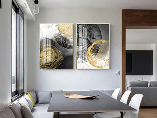新中式沙发背景墙装饰画 现代简约客厅挂画大气轻奢抽象画