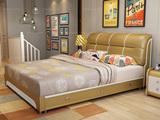 现代简约 皮艺系列1.5米床 仿真皮+排骨架